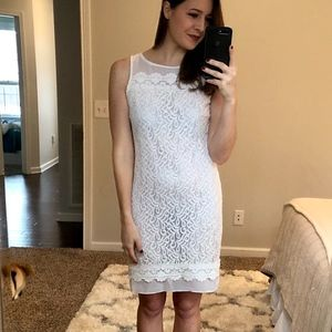 Ellen Tracy White Lace Dress